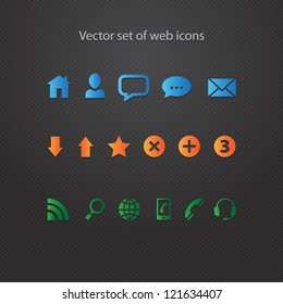 Vector set of modern web icons for your site
