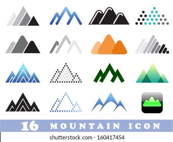 Vector set of Mountain icons or emblems