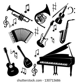 The vector set of musical instrument