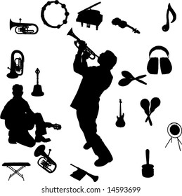 Vector set of Musical instruments and Players-1