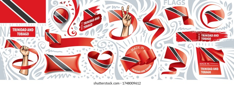 Vector set of the national flag of Trinidad and Tobago