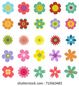 Vector set of nature-themed. Collection of flowers.