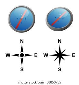 Vector set of navigation tools