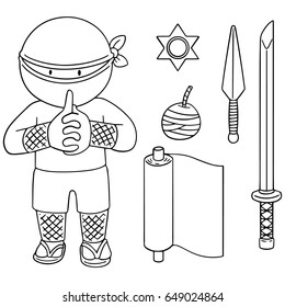 vector set of ninja