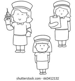 nurse cartoon images stock photos vectors shutterstock Rauland Nurse Call Parts vector set of nurse