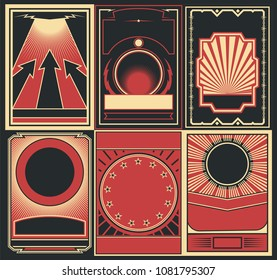 Vector Set of Obey Poster Backgrounds