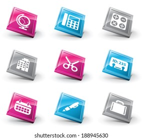 Vector set of office icons.