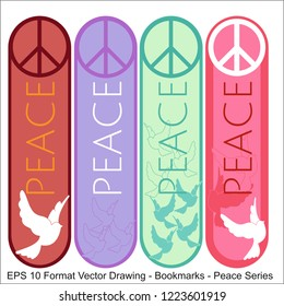 Vector set of ornate vertical Bookmark cards in oriental peace style. It can be used as wall board, banner, icon, wallpaper, gift card, bookmark or book separator.