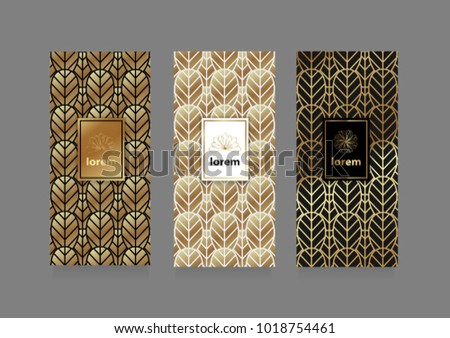 vector set packaging templates black white stock vector royalty