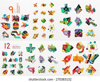Vector set of paper graphics. Mega collection