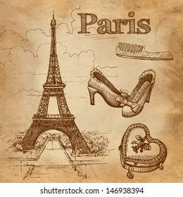 Vector set of Paris symbols