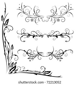 vector set of patterns for design on a white background