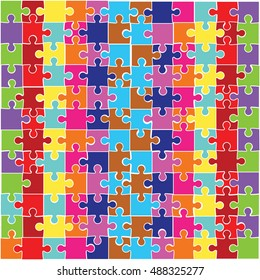 Vector Set of  Pazzle . Jigsaw Pattern.