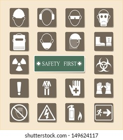 Vector of Set of Personal Protection Equipment (PPE)