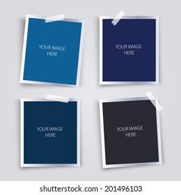 Vector set of photo frames.
