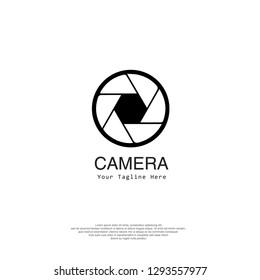 Vector set of photography and camera logos and signs - line icons