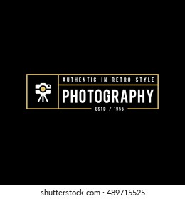 vector set of photography studio logos, badges and labels. logotype design elements