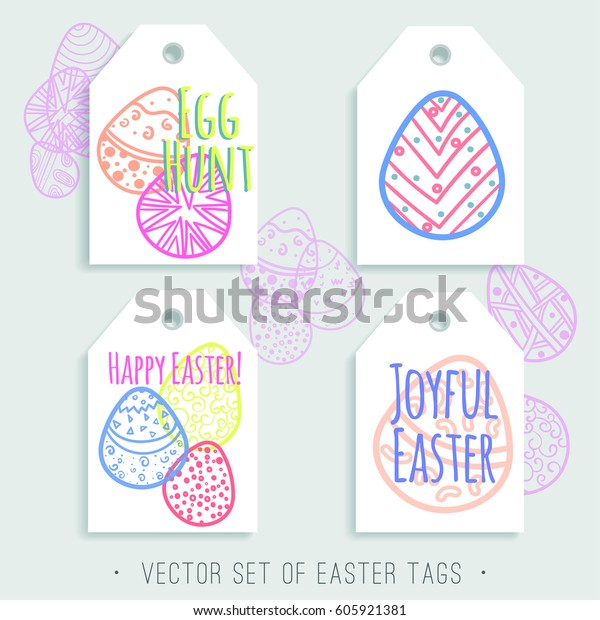 picture regarding Printable Easter Tag named Vector Fixed Printable Easter Tags Brilliant Inventory Vector
