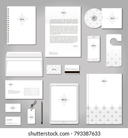 Vector set of printing materials template for branding identity.
