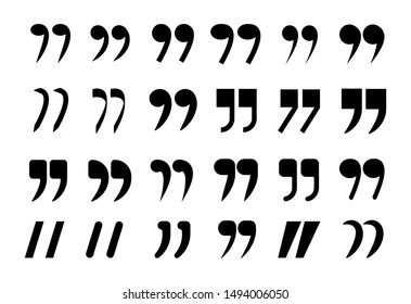 Vector set of quotation marks. Marks for quotes.