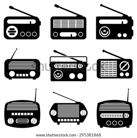 vector set of radio icons