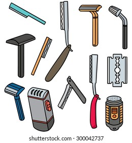 vector set of razor