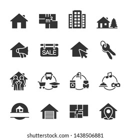 Vector set of real estate icons.