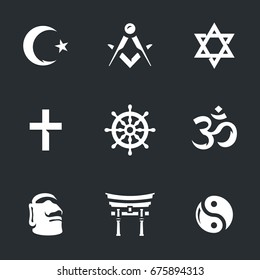 Vector Set of Religion Icons.