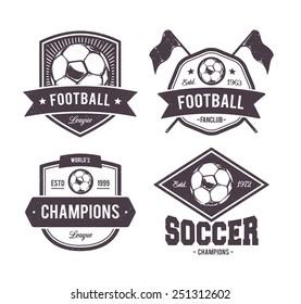 Vector set of retro football emblems.