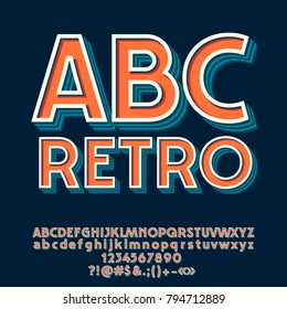 Vector Set of Retro Letters, Numbers and Symbols.