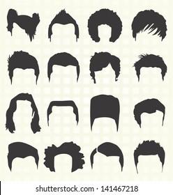 Vector Set: Retro Men's Hair Styles