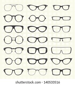 Vector Set: Retro and Modern Eyeglasses