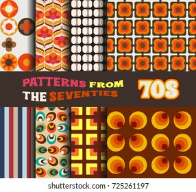 Vector Set of Retro Patterns from the Seventies