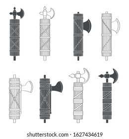 vector set with Roman Fasces
