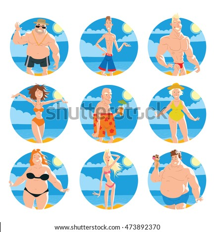 3ea488526f6 Vector Set Round Frames Yellow Sand Stock Vector (Royalty Free ...