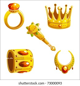 vector set of royal jewelry