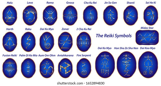 Vector set of Sacred geometry. Reiki symbols keys open doors to higher levels of awareness Meditation Tool for healing protection aura and chakras. Blocage negative entities. Life force energy.