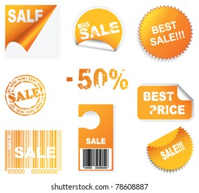 vector set of sale icons