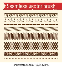 Vector set of seamless brush for Illustrator.
