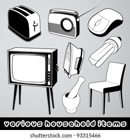 Vector set: several household items