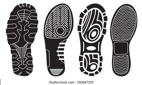 Vector set of shoe tracks