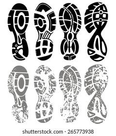 Vector set of shoe tracks
