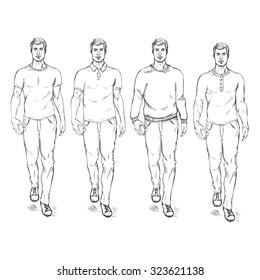 Man Fashion Sketch Images, Stock Photos \u0026 Vectors