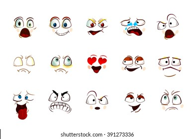 Vector set smile icons