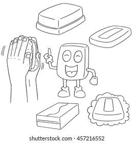 vector set of soap