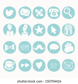 Vector Set of Social Icons 1.