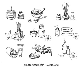 Vector set of spa icons.