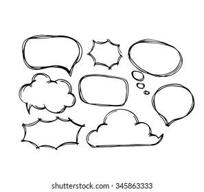 Vector set of speech bubble