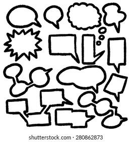 vector set of Speech Bubbles