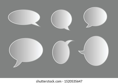 Vector set of speech bubbles. Blank empty speech bubbles